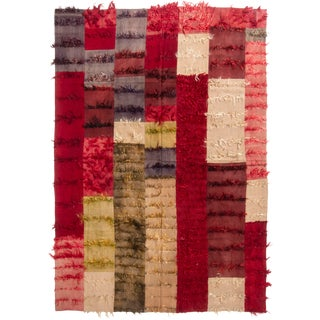 Vintage Contemporary Tulu Geometric Rug - 6′1″ × 8′8″ For Sale