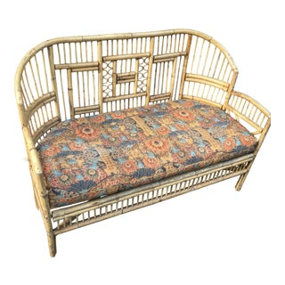 1970s Brighton Tortoishell Bamboo Settee For Sale