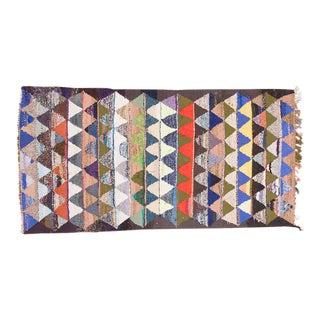 Vintage Persian Handmade Kilim Rug - 3′6″ × 8′ For Sale