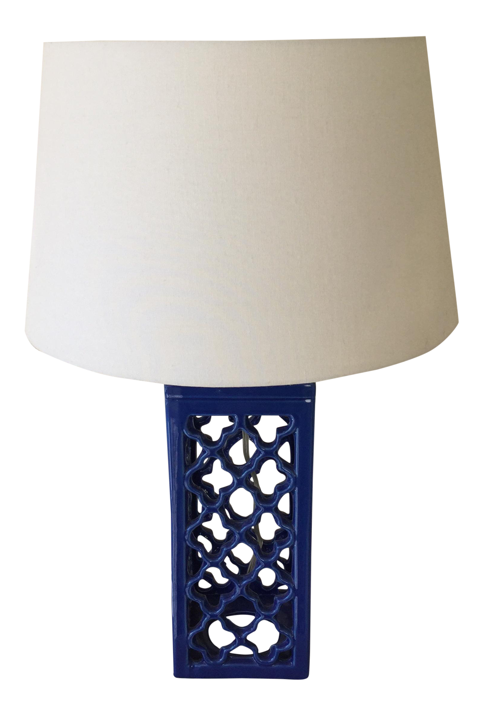 Cobalt Blue Ceramic Table Lamp