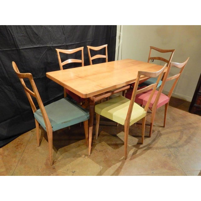 Wood Italian 1960s Dining Table For Sale - Image 7 of 9