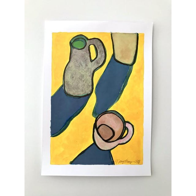 "Abstract 2010s Pop Art Original Painting, ""Pitcher Cup"" by Neicy Frey For Sale - Image 3 of 3"