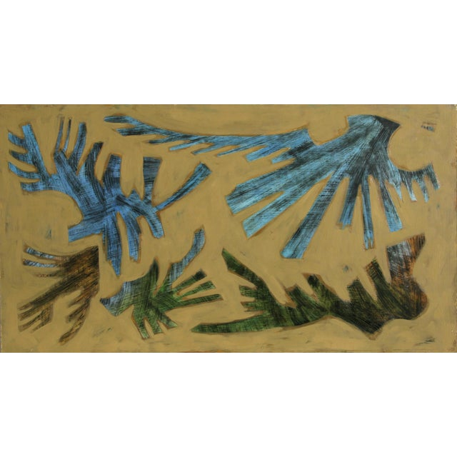 Artist: Laurent Marcel Salinas, Egyptian/French (1913 - 2010) Title: untitled (279) Year: circa 1960 Medium: Oil on...