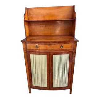 18th C. English George III Satinwood Side Cabinet For Sale