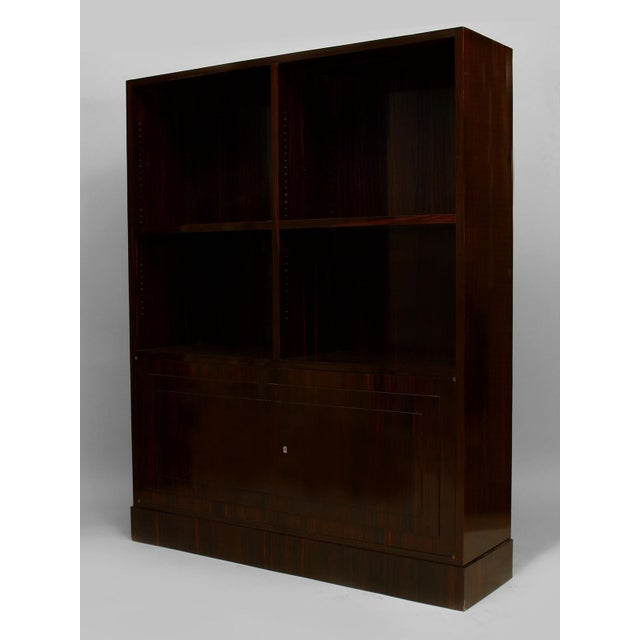 Art Deco Pair Of French Art Deco Calamander Wood Bookcase For Sale - Image 3 of 4