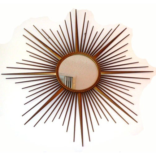 Art Deco French Vintage Chaty Sunburst Mirror For Sale - Image 3 of 5