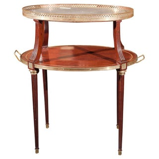 French Two Tier Mahogany Dessert Stand For Sale