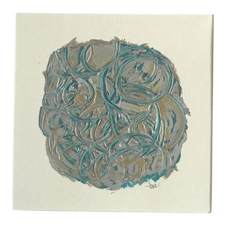 "Christy Almond ""Molten Swirls"" Original Mixed Media Painting"