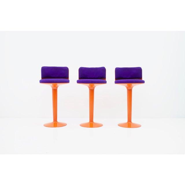 Orange Fiberglass Bar Set by Wolfgang Feierbach, Germany 1974 For Sale - Image 8 of 10