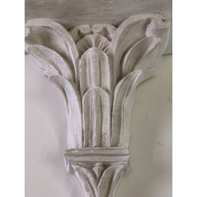 Mid 20th Century Neoclassical White Acanthus Carved Plaster Wall Bracket For Sale - Image 5 of 12