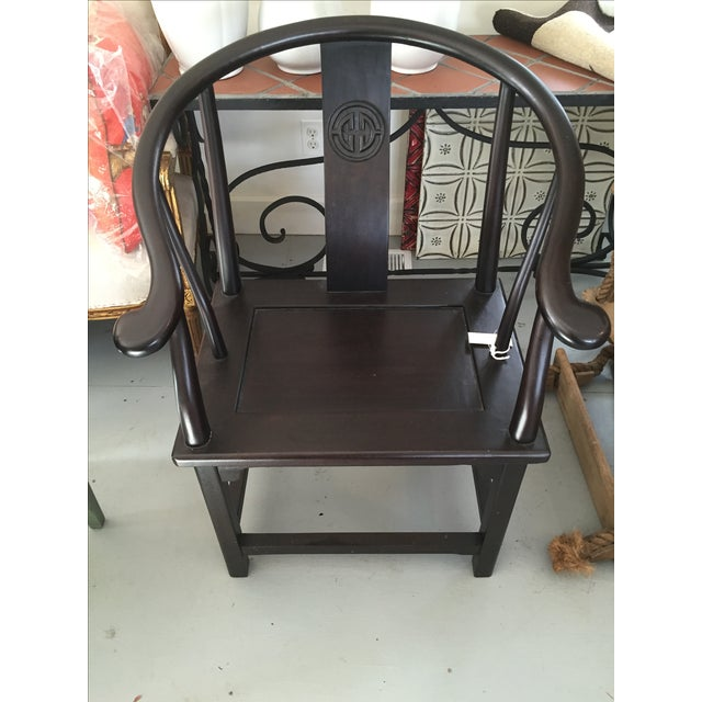 Espresso Asian-Style Armchair - Image 2 of 6