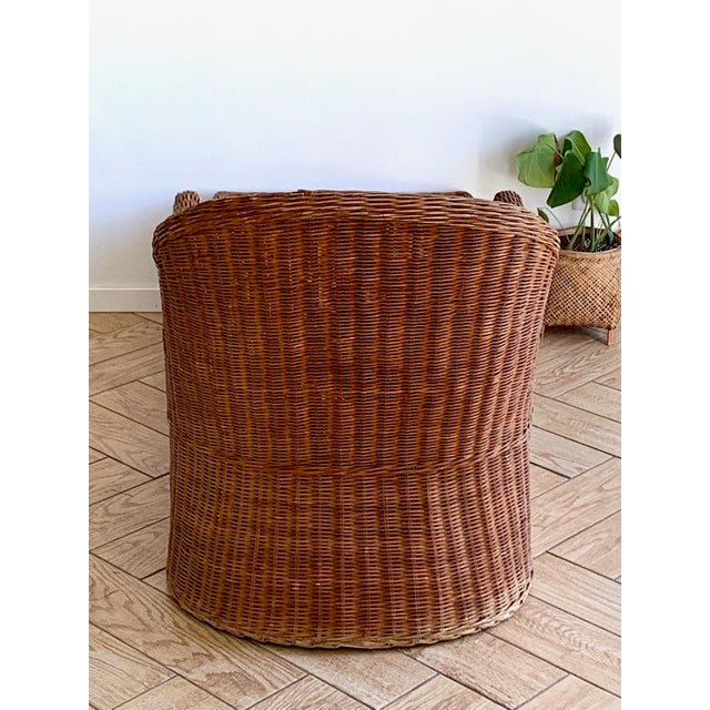 Brown 1990s Vintage Wicker Chaise For Sale - Image 8 of 11