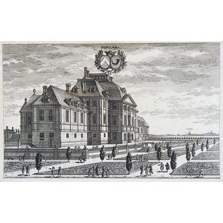 Antique Engraving Swedish Baroque Schellnora 1690s For Sale