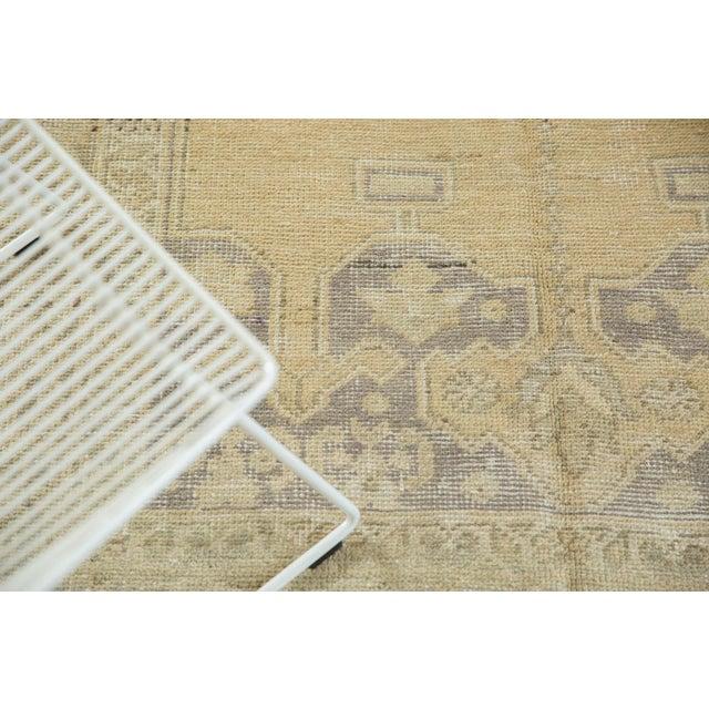 "Vintage Distressed Oushak Carpet - 5'6"" X 9'1"" For Sale - Image 9 of 13"