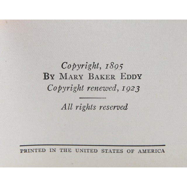 """Traditional 1923 """"Mary Baker Eddy Boxed Set, S/5"""" Collectible Book For Sale - Image 3 of 6"""