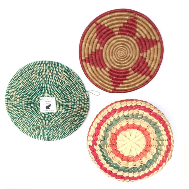 Multicolored Woven Baskets - Set of 3 For Sale - Image 4 of 8