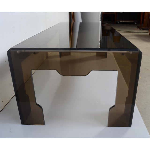 Jeffrey Bigelow Lucite Glass Coffee Table For Sale In Washington DC - Image 6 of 9