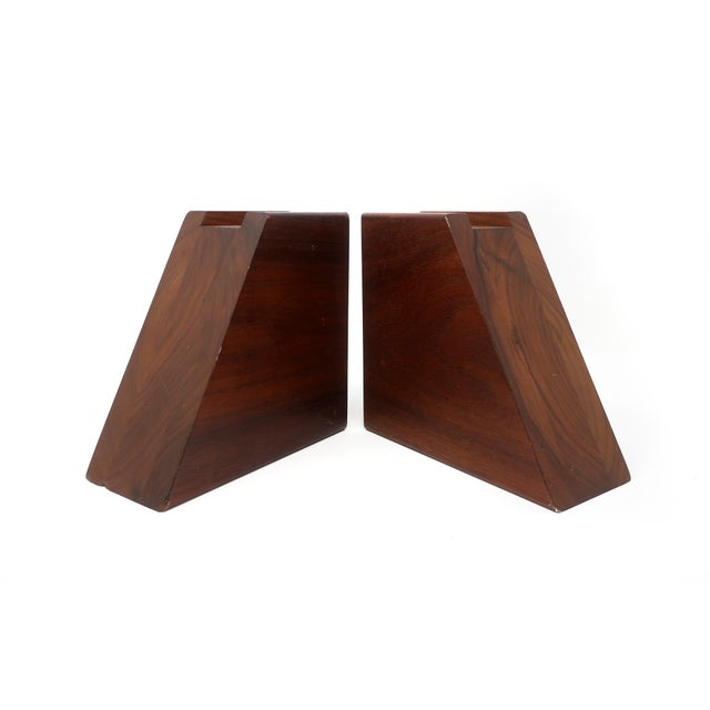 Mid-Century Modern Mid-Century Modern Walnut Bookends For Sale - Image 3 of 10