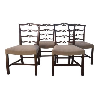 1920s Antique Mahogany Dining Room Chairs- Set of 4 For Sale