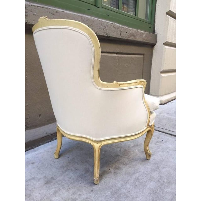 Pair of French Louis XV Style Bergere Chairs For Sale - Image 4 of 7