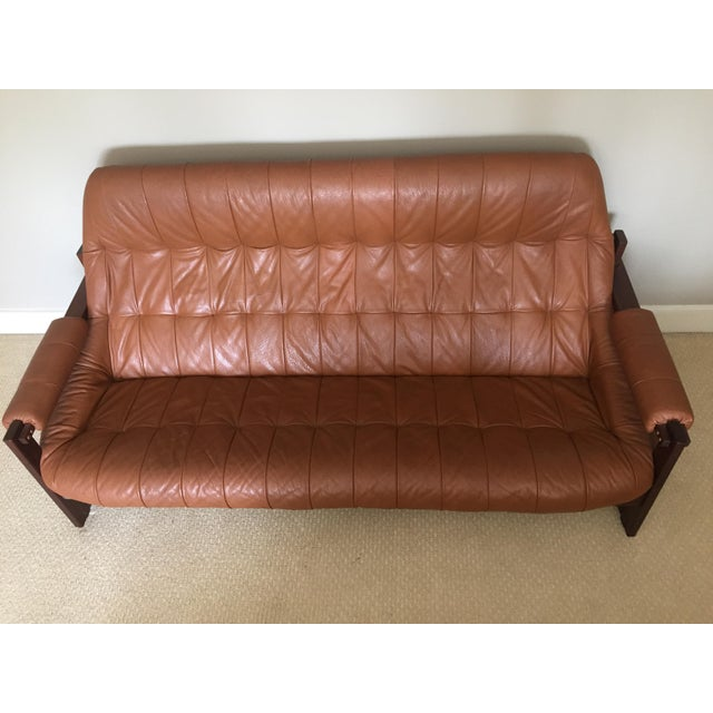 1970s Mid-Century Percival Lafer Leather Sofa - Image 2 of 4