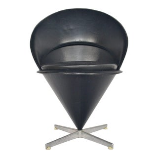 Verner Panton Cone Chair – Black For Sale