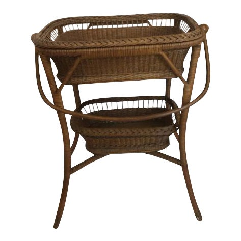 Rattan Basket Stand - Image 1 of 11