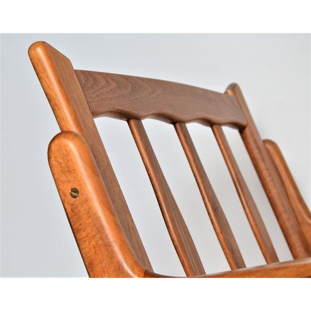 Mid Century Danish Modern Solid Teak Selig Style Lounge Chair Inspired by Poul Jensen or Ib Kofod-Larsen - Image 10 of 12