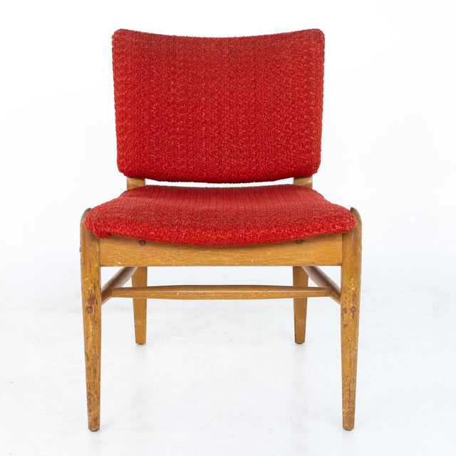 Red John Keal for Brown Saltman Mid Century Mahogany Dining Chairs - Set of 4 For Sale - Image 8 of 13
