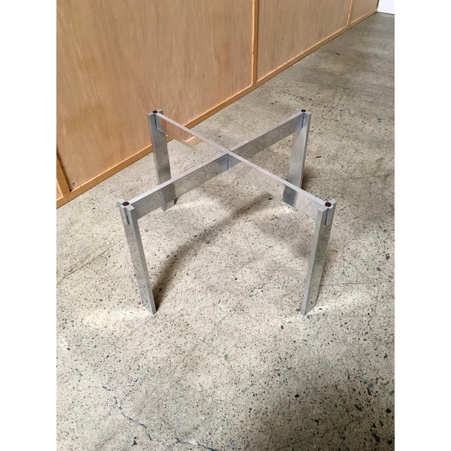 Mid 20th Century Paul Mayen for Habitat Aluminum X Base Side Table For Sale - Image 5 of 9