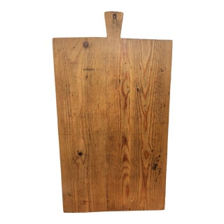 Antique Honey Pine Breadboard For Sale