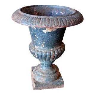 Mid 19th Century Cast Iron Urn Garden Planter For Sale