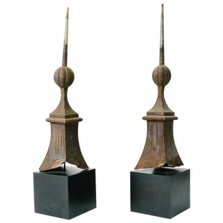 Pair of 19th Century Architectural Finials Off a Building For Sale