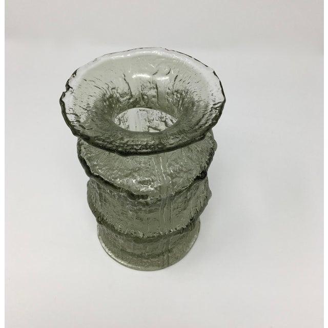 Iittala Mid Century Scandinavian Timo Sarpaneva Glass Vase For Sale - Image 4 of 12