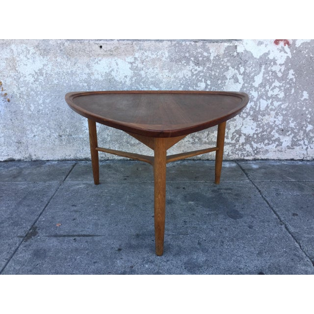 Vintage Triangle Coffee Table Chairish - Mid century triangle coffee table