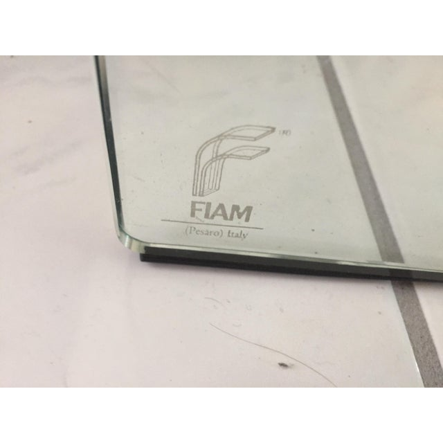 1980s Fiam Italia Glass Dining Table - Image 2 of 3