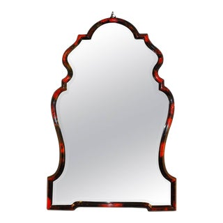 Beautiful Red Horn Chippendale Style Mirror For Sale