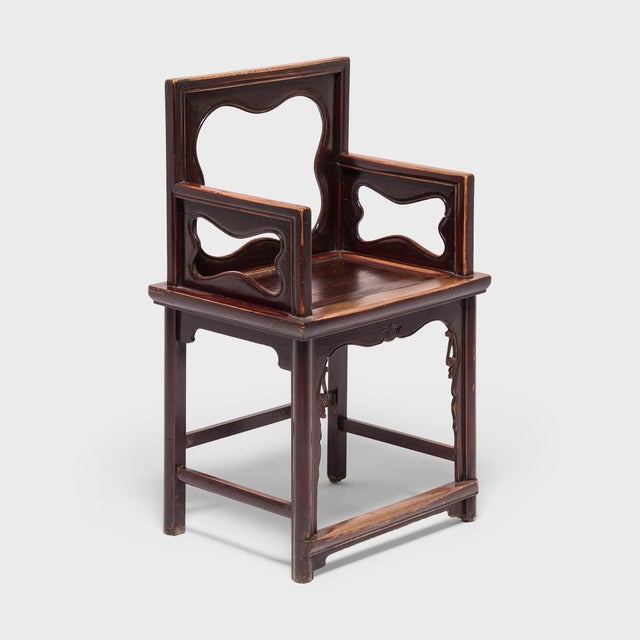 Asian 19th Century Chinese Rose Chairs - a Pair For Sale - Image 3 of 12
