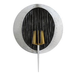Brutalist Wall Torch For Sale
