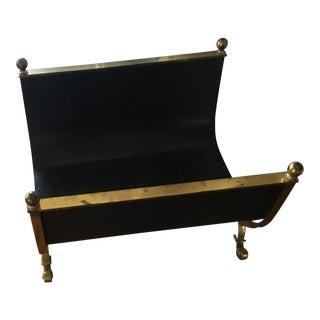Vintage Metal Firewood Carrier/Holder For Sale