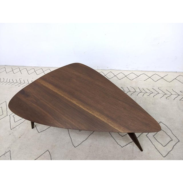 Phillip Lloyd Powell 1960s Mid Century Walnut Cocktail Table For Sale - Image 4 of 9