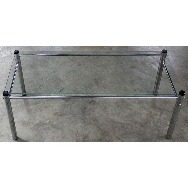 James David Furniture Attributed Chrome & Glass Coffee Table - Image 2 of 12