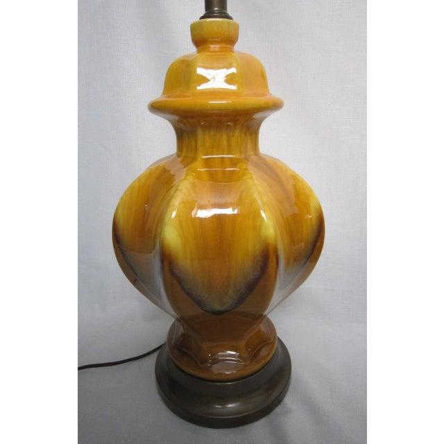 Midcentury Drip Glaze Lamps - Pair - Image 5 of 5