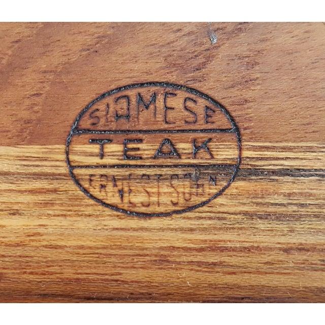 Ernest Sohn Rectangular Siamese Teak Bowl - Image 8 of 11