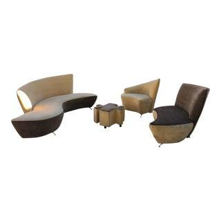 Vladimir Kagan Style Sofa Set - Set of 4