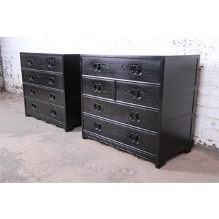 Michael Taylor for Baker Far East Collection Ebonized Bachelor Chests, Pair Preview