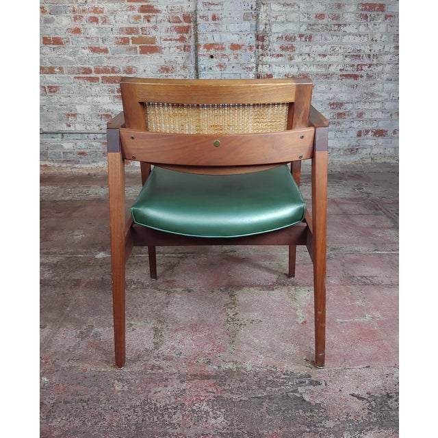 Gunlocke 1960s Mid Century Modern Cane Back Arm Chairs -Set of 4 For Sale - Image 9 of 11