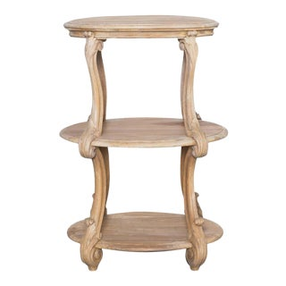 1920s French Wooden Acanthus Side Table For Sale