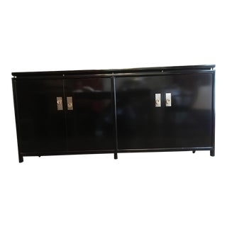 Mid-Century Modern Black Lacquer Baker Buffet For Sale