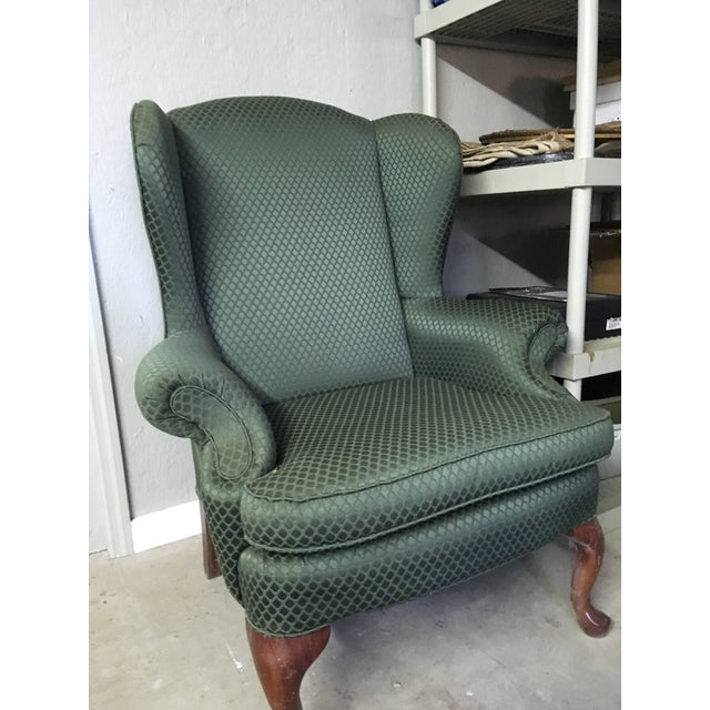 Traditional Modern Traditional Style Green Accent Chair For Sale - Image 3 of 3